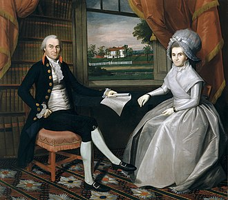 Oliver Ellsworth - Oliver and Abigail Ellsworth by Ralph Earl