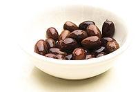 A bowl of kalamata olives.
