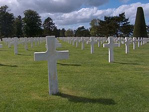 English: Omaha beach cemetery in Normandy, France.