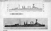 Omaha class cruiser drawing