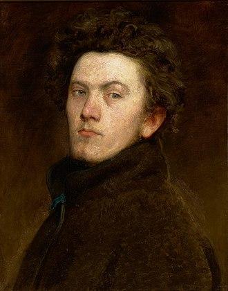 Bertalan Székely - Self-portrait (1860)