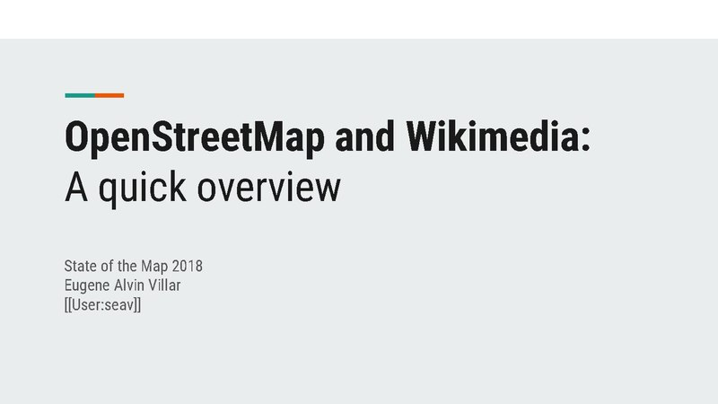 File:OpenStreetMap and Wikimedia (State of the Map 2018).pdf
