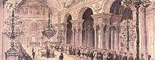 Торжественное открытие здания османского парламента