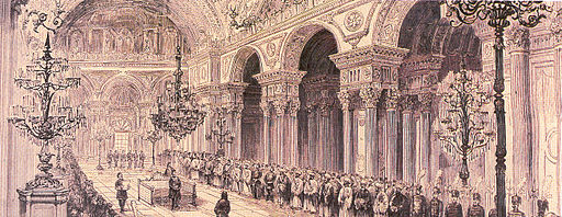 Opening ceremony of the First Ottoman Parliament at the Dolmabahce Palace in 1876