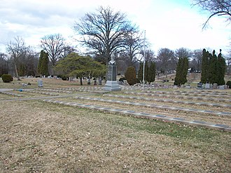 Iowa Soldiers' Orphans' Home - Graves of the orphans at the Oakdale Cemetery