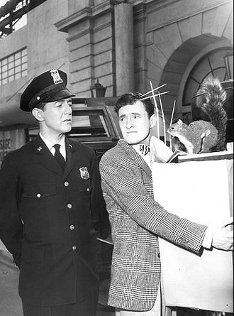 "Orson Bean - William Schallert and Orson Bean in ""Mr. Bevis"", a 1960 episode of The Twilight Zone"