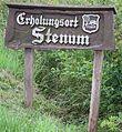 Ortsschild Erholungsort Stenum.JPG