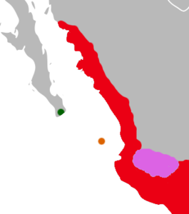 Oryzomys distribution W Mexico.png