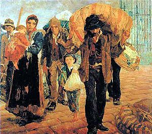 "Italian diaspora - ""The emigrants"", Antonio Rocco, 1910"