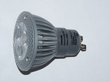 English: Osram 4.5W LED light bulb