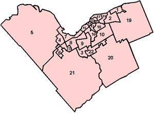 Wards of the City of Ottawa - Map of Ottawa's Wards.