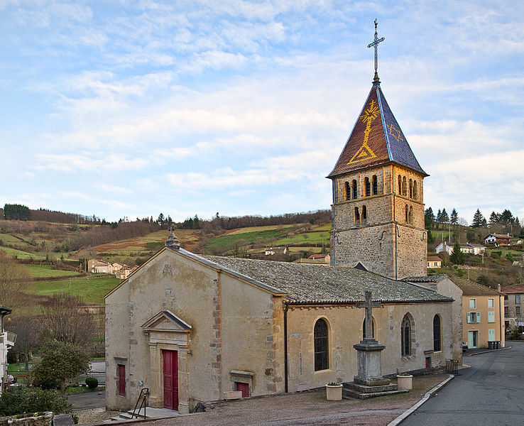Église Saint-Antoine d'Ouroux,  (ClasséInscrit, 19821982)