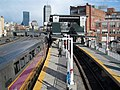 Outbound train at Yawkey with shadows.JPG