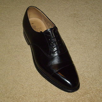 Oxford shoe - Men's cap toe oxford shoe