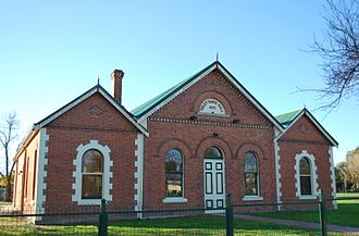Oxley, Victoria - Oxley Shire Hall, built in 1875