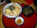 Oyakodon, miso soup and tsukemono by robertDouglass.jpg