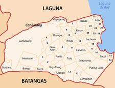 Map of Calamba City