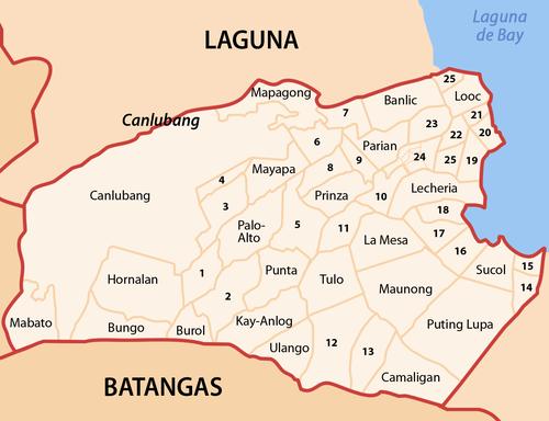 Calamba Laguna Philippines Map