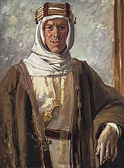 Painting of Lawrence of Arabia by Augustus John