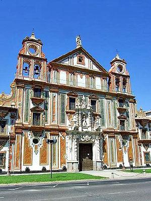 Palacio de la Merced - Main façade.