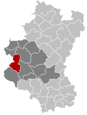 Paliseul - Image: Paliseul Luxembourg Belgium Map