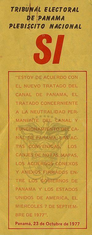 Torrijos–Carter Treaties -  Yes
