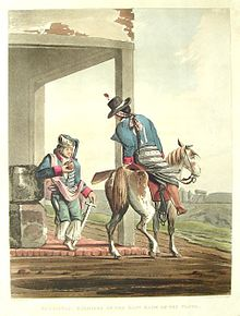 Paolistas, Soldiers of the East Bank of the Plata - Emeric Essex Vidal - Picturesque illustrations of Buenos Ayres and Monte Video (1820).JPG