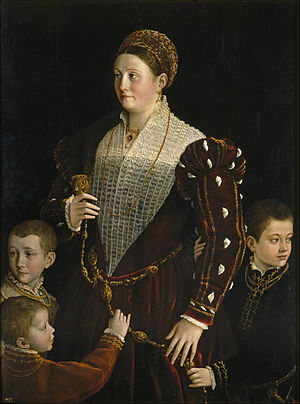 Portrait of Camilla Gonzaga and Her Three Sons - Image: Parmigianino, ritratto di camilla gonzaga coi figli