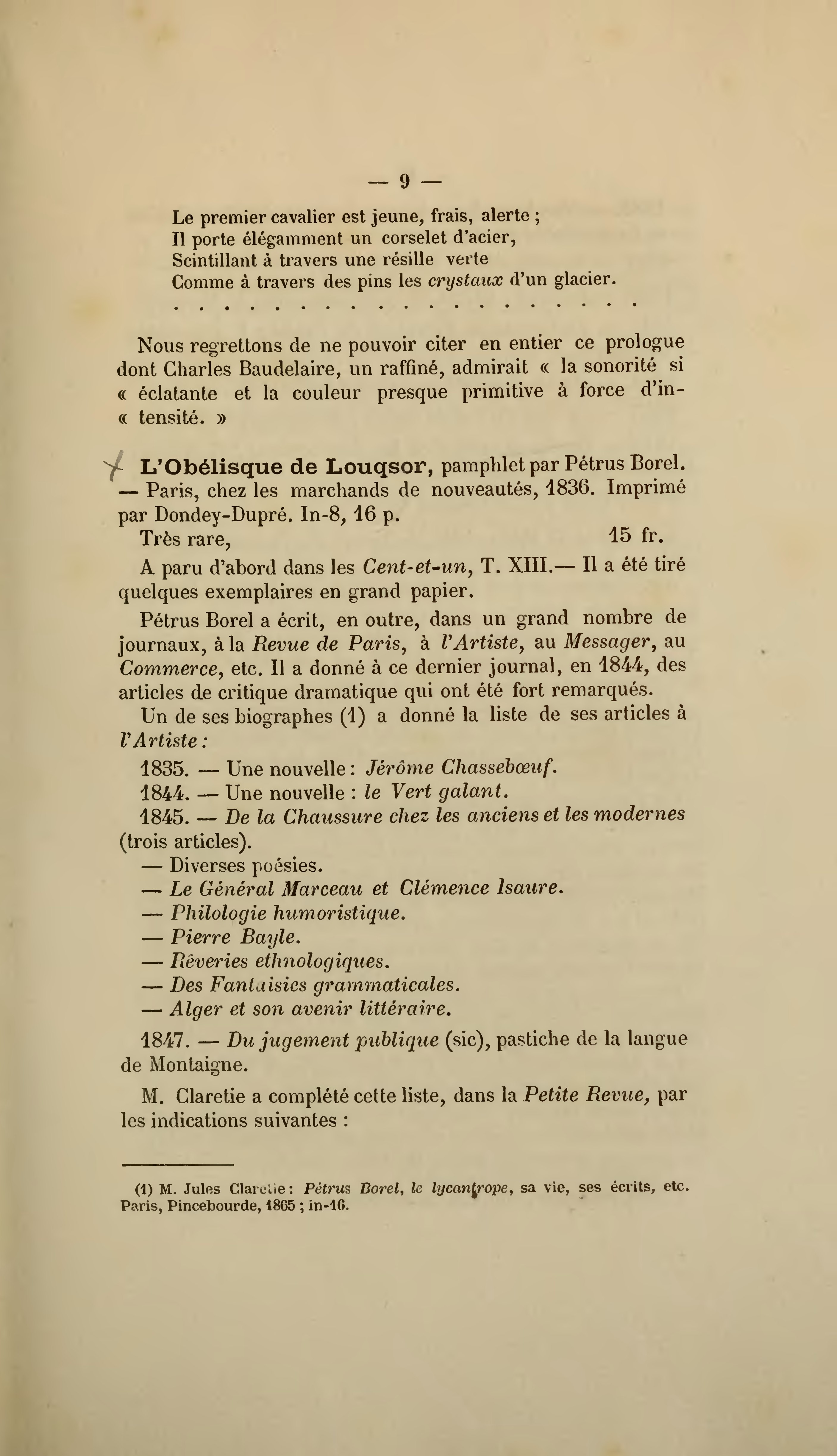 Ecrits drolatiques - Pétrus Borel