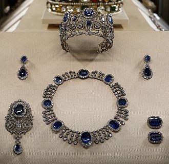 Parure - Sapphire Parure of Queen Maria Amélie of France