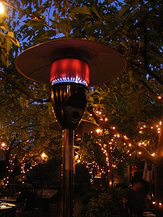 Radiant heating - Gas burning patio heater