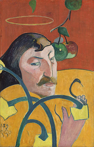 Self-Portrait with Halo and Snake - Image: Paul Gauguin Self Portrait with Halo and Snake