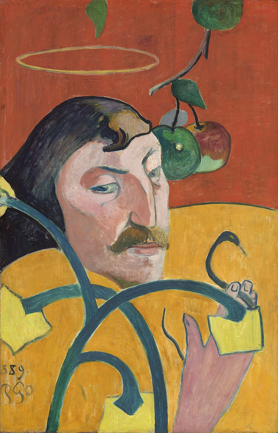 Paul Gauguin - Self-Portrait with Halo and Snake