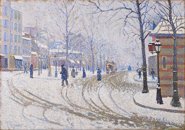 640px-Paul_Signac_-_Snow,_Boulevard_de_Clichy,_Paris_-_Google_Art_Project.jpg (640×451)