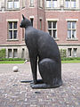 Peace Palace cat from aside.JPG
