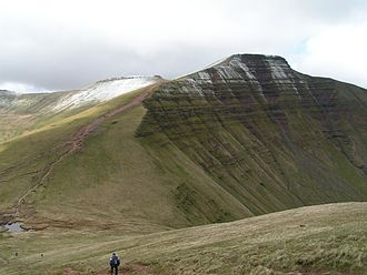 Brecon Beacons - Pen y Fan seen from Cribyn
