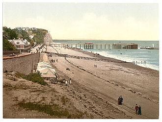 Penarth Pier - Penarth Pier in about 1900.