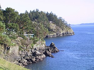 Gulf Islands - A view of North Pender Island's shoreline