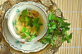 Mint tea - Image: Peppermint tea 2