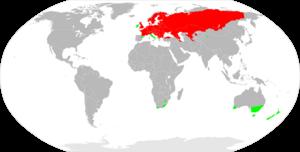 European perch - Image: Perca fluviatilis distribution map