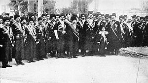 Qajar dynasty - Persian Cossack Brigade in Tabriz in 1909