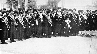 Persian Cossack Brigade elite cavalry unit formed in 1879 in Persia