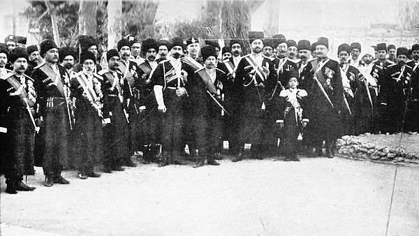 Persian Cossack Brigade in Tabriz in 1909 Persian Cossack Brigade.jpg