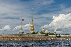 Peter & Paul fortress in Saint Petersburg. Image: User:Florstein.