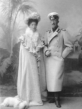 Duke Peter Alexandrovich of Oldenburg - Peter of Oldenburg and his wife Olga