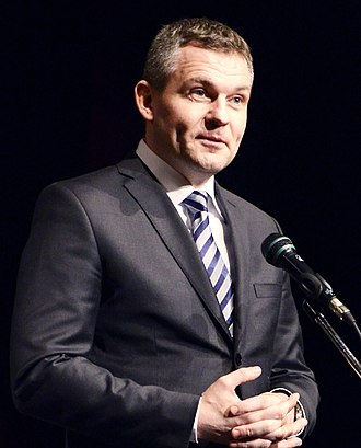 Prime Minister of Slovakia - Image: Peter Pellegrini 2015