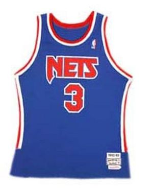 Dražen Petrović s Nets jersey  his number 3 was retired by the team  following his death 355357c29