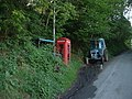 Phone box and tractors - geograph.org.uk - 1066668.jpg