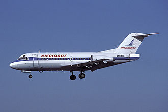 Fokker F28 Fellowship - A Piedmont F28-1000 on approach