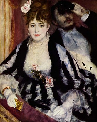 Pierre-Auguste Renoir - The Theater Box, 1874, Courtauld Institute Galleries, London